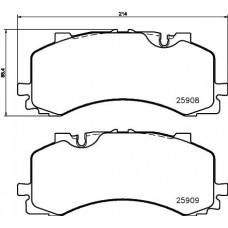 Audi VW Brake Pad Set (disk brake) - 4M0698151T