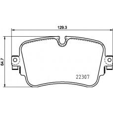 Audi VW rear Brake Pad Set (disc brake) - 4M0698451F